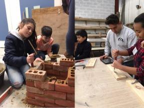 tieners van TADA aan het werk in het atelier van FIX